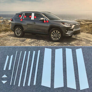 For-Toyota-RAV4-XA50-2019-2020-Steel-Window-Center-Pillar-Garnish-Trim-14pcs
