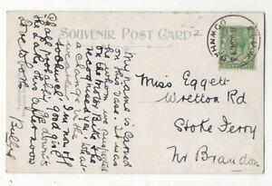 Stow-Downham-8-Jun-1913-Caoutchouc-Handstamp-postmark-Norfolk-106-C