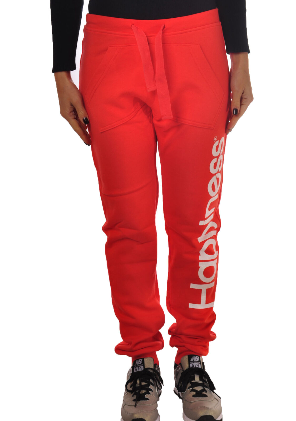 Happiness - Pants, Trousers, sweatshirt - Woman - Red - 4819115G184253