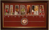 Alabama Football Framed Nameplate Print Bear Bryant Nick Saban Big Al