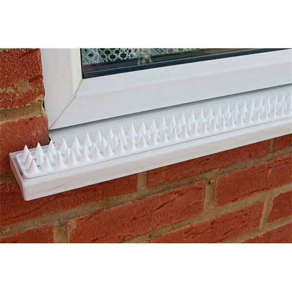 White Security Strips 10 Pieces Ideal For Fence Wall Window Sills Am-Tech S1607