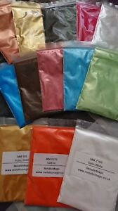 metallic epoxy resin pigments sample pack 8 colour pack
