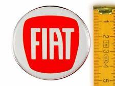 FIAT★ 4 Stück ★ SILIKON Ø50mm ROT Aufkleber Emblem Felgenaufkleber Radkappen