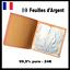 10-Feuilles-d-039-Argent-99-9-pure-24K-Silver-Leaf-24-Carats-Pure-edible miniatuur 1
