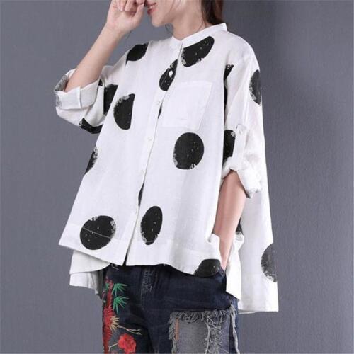 Buykud Womens Long Sleeve T Shirt Blouse Casual Loose Tops Korean Cotton Blend