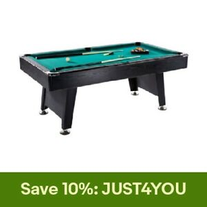 Lancaster 90 Inch Game Room Billiards Green Felt Pool Table with Balls and Cue