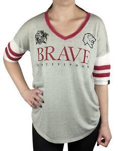 Harry-Potter-Gryffindor-valiente-mujer-dama-Varsity-Camiseta-Tallas-S-XL