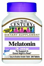 21st Century Melatonin 3 mg Tablets, 200ct Tablets -Expiration Date 06-2019-