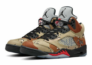 100% authentic 14599 ac06b Nike Air Jordan 5 Retro Supreme Shoes, Size 11 - Desert Camo