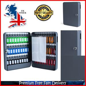 Wall Mount Lockable Key Control Storage Cabinet Box Safe Cupboard 54 Keys Large