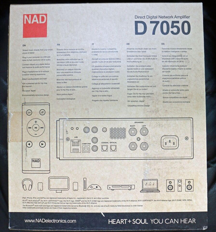 Forforstærker, Nad, D7050