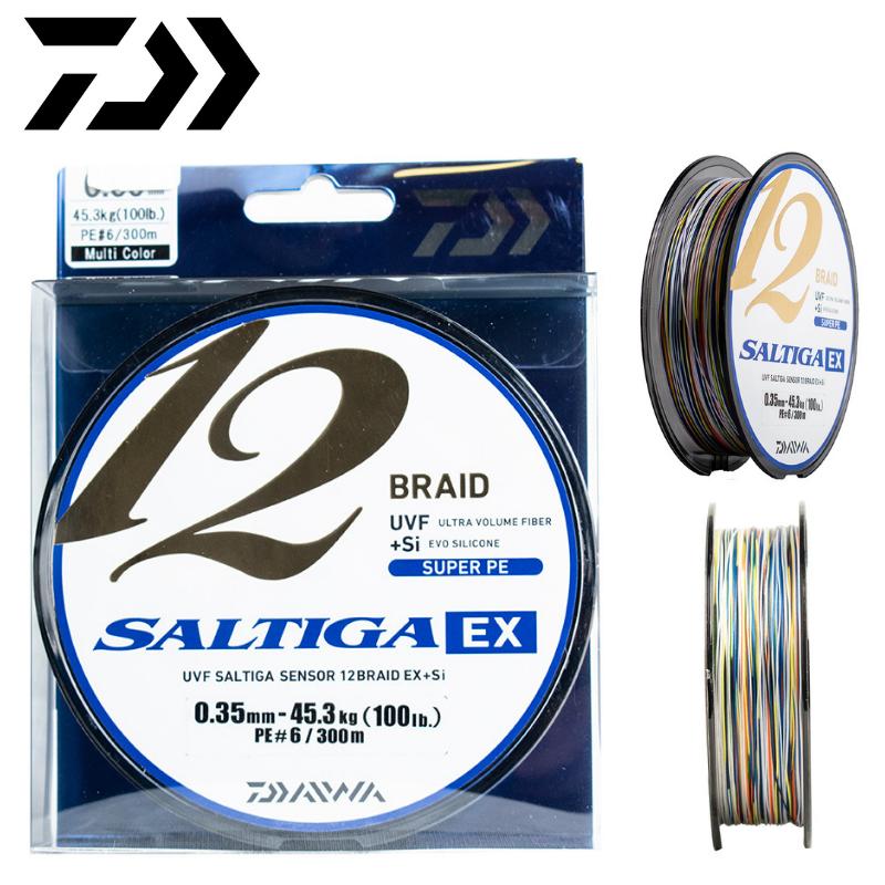 Daiwa Saltiga 2019. MultiColoreee Round Braided Line X 12 Braid Ex  Si 300M