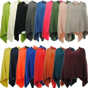 Ladies-Italian-Lagenlook-Angora-Wool-Mix-Knitted-Draped-Poncho-Cape-Wrap-Shawl