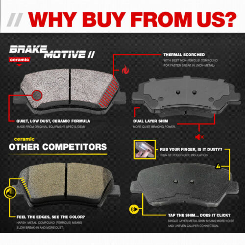 Front And Rear Ceramic Brake Pads For 2014 2015 2016 2017 2018 Audi Q5 2.0T