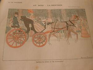 Au Bois La Rentrée Gardons Les Mêmes Et L'on Recommence ! Print Art Déco 1906 Scmi8wka-07172550-110402604