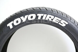 Toyo Tires White Letters >> Details About Toyo Tire Stickers 1 00 For 19 20 21 Wheels 8pcs White Rubber Letters