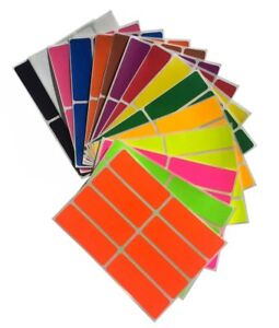 rectangle shaped color coding labels 1 x 3 inch writable art crafts