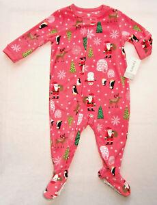 Brandneu geeignet für Männer/Frauen Neueste Mode Details zu Carters Strampler Gr. 74 - 92 NEU ! Schlafanzug Weihnachten rosa  Fleece pink