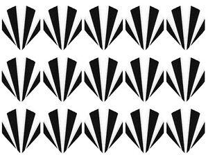 Orange 5 New Sets Rip Stop Nylon Fabric Slim Dart Flights Ships w// Tracking