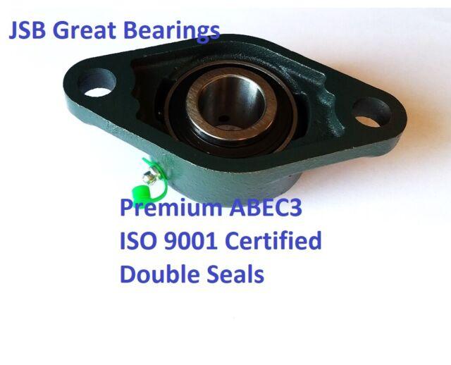 Premium UCFL204-12 double seals ABEC3 oval flange bearings 3//4 bore UCFL204 6