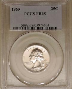 1960-PCGS-PR-68-Washington-quarter-superb-GEM-proof-silver-slight-cameo-contrast