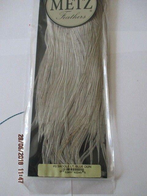 Metz saddle light bluee dun grade 2  flytying hair feathers