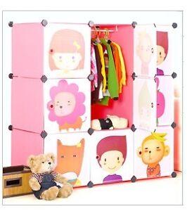 Folding Plastic Wardrobe Cupboard Almirah Kids-Mlx- Lkl-25-1- A