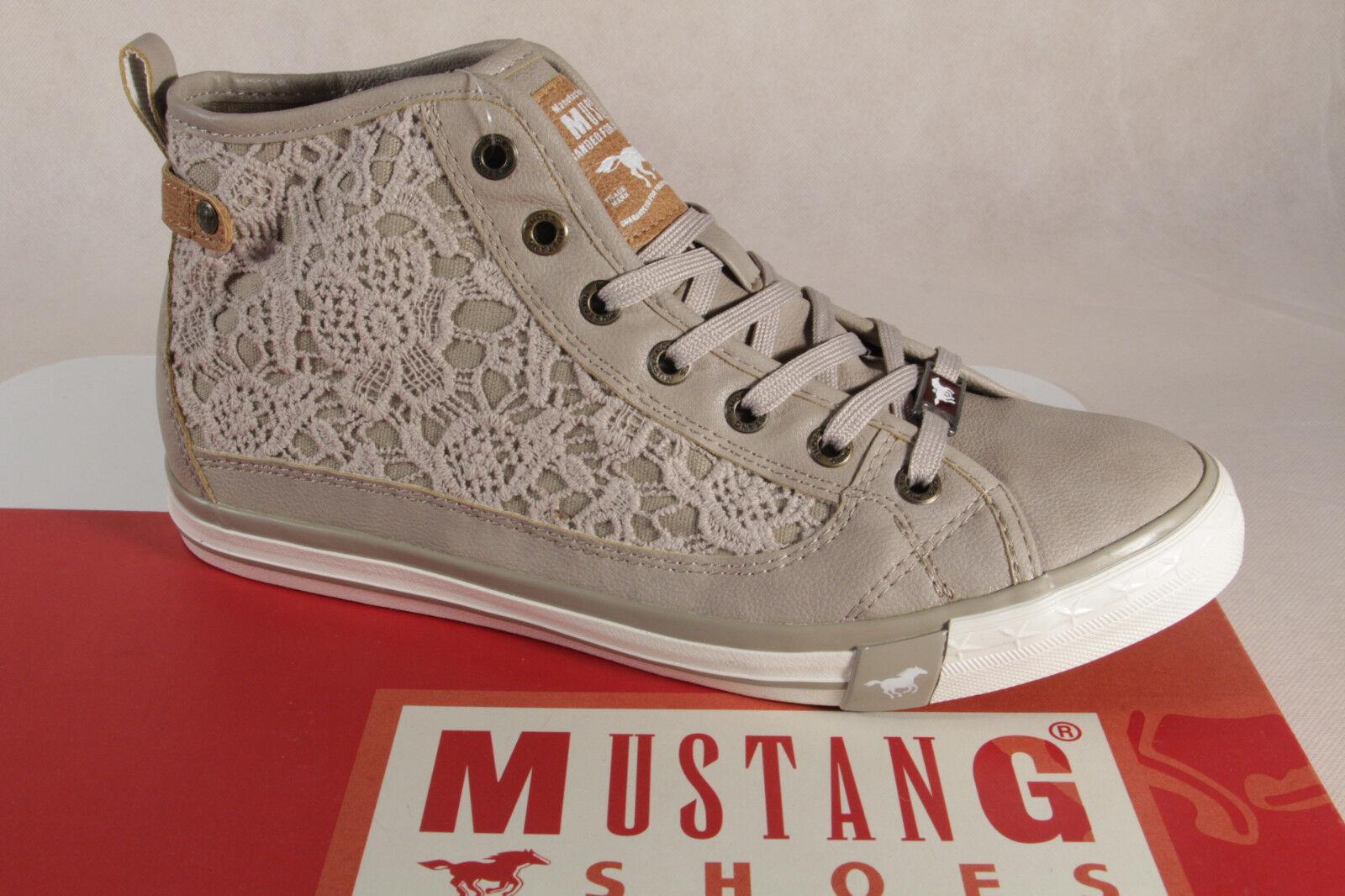 Zapatos promocionales para hombres y mujeres MUSTANG Zapatos de cordones Deportiva baja beige , suela de goma 1146 NUEVO