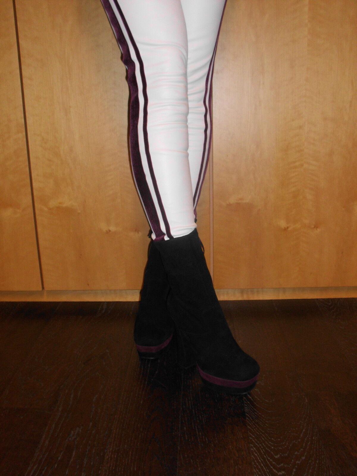 PRADA Plateau Stiefel NEU 100 % Original dunkel-lila  Gr. 40   Schuhe