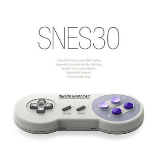 NEW-8BITDO-SNES30-Wireless-Bluetooth-Classic-Controller-Gamepad-w-Xstand-319HC