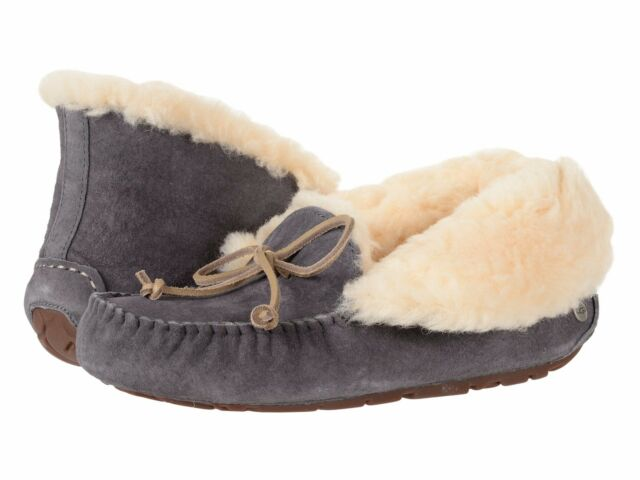 42afd4c9110 Women's Shoes UGG ALENA Suede Moccasin Slippers 1004806 NIGHTFALL *New*