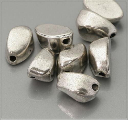 10x Tibetsilber Metall Perlen Spacer Zwischenteil für Schmuck DIY 7x12mm ms351