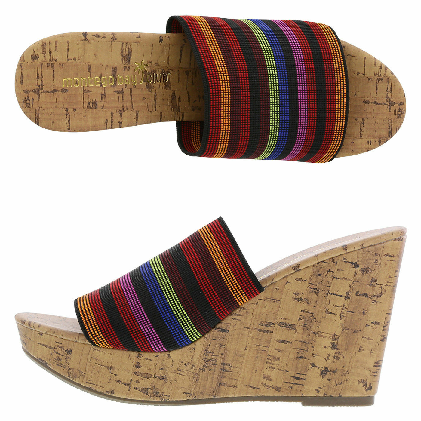 Nouveau Haut Chaussures Taille 13 O O O 'Malley High-Wedge Slide Cork Look Multi 3085c9
