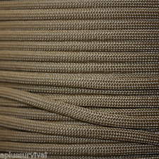 Paracord - 100 Foot Coyote Brown Color 550 LB 7 Strand
