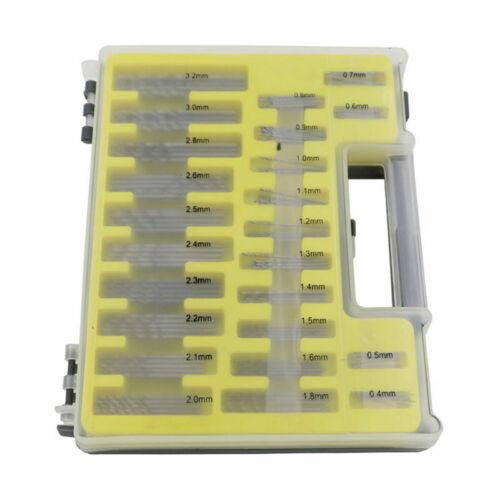150x Mini Micro Power Spiralbohrer Set Kleine Präzision HSS Kit 0.4mm 3.2mm`