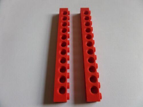 2x 3895 Lego Technic Lochstange 1x12 rot red 389521