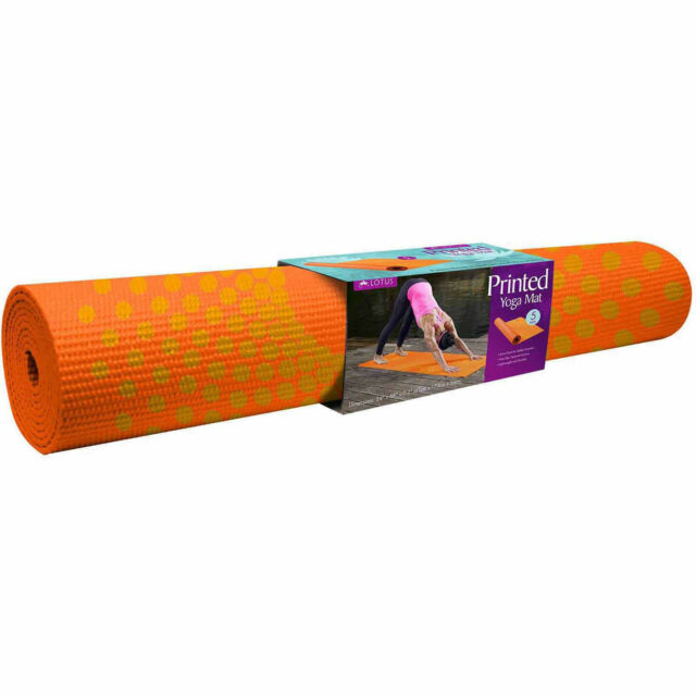how to purchase factory outlet huge selection of Orange Lotus Printed 5mm Yoga Mat Extra Thick Comfort and Durability WT