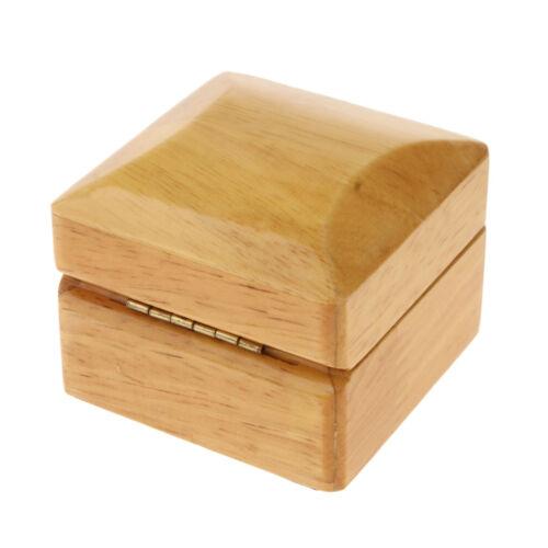 Velvet Wood Jewelry Gift Box Wedding Ring Holder Display Box Storage Case