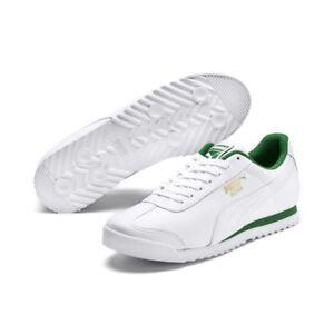 Puma-Roma-Classic-White-Amazon-Green-Sneakers-Mens-US-10-5-BNIB-UK-9-5-EUR-44