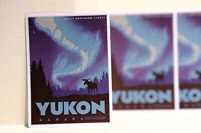 "#3158 Aurora Yukon Canada Vintage Travel Retro Luggage Label 3x4/"" Decal Sticker"