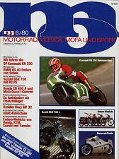 mo 6/80 1980 Bimota SB 3D MV Agusta 900 Honda MT-5 Kreidler Flory Suzuki GSX 750