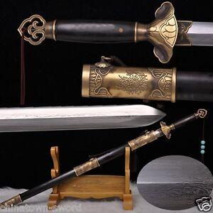 Song Dy Stl Lotus Flower Evil Spirits Swords Refinings Pattern Steel