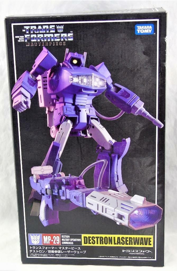 Transformers obra maestra Takara MP-29 LASERWAVE SHOCKWAVE Completo Con Caja