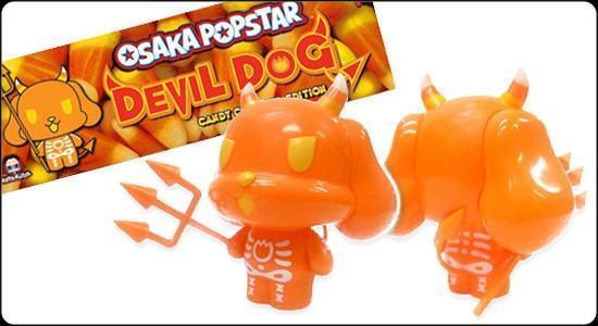DEVIL Hund CANDY CORN Ausgabe DESIGNER JAPANESE VINYL FIGURE SECRET BASE