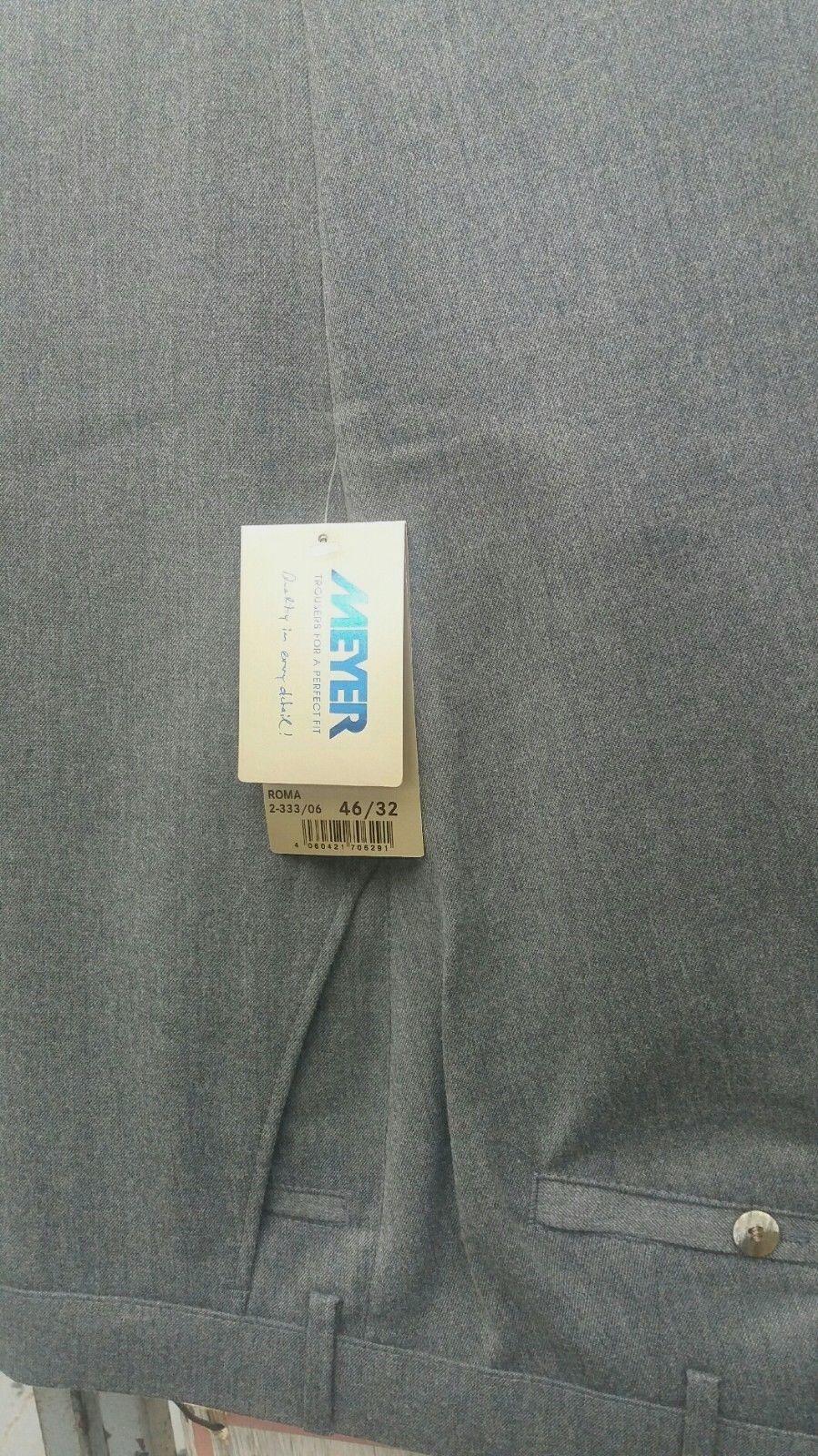 MEYER ROMA Smart Pantaloni in misto lana grigio grigio grigio 42  44  46  48  50  52  329a22