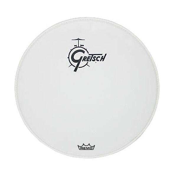 Gretsch 20  White Center Logo Bass Drum Head - GRDHCW20