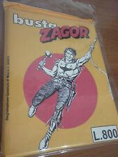 ZAGOR Busta fumetti ANASTATICA Anni 80 Lire 800  Colore Giallo Oro