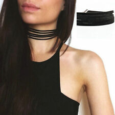 Fashion Black Velvet Choker Vintage Gothic Goth Multilayer Punk Collar Necklace