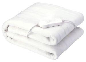 Sobrecolchón casa lavable acolchada blanco manta climatizada eléctrico-Tamaño King  </span>