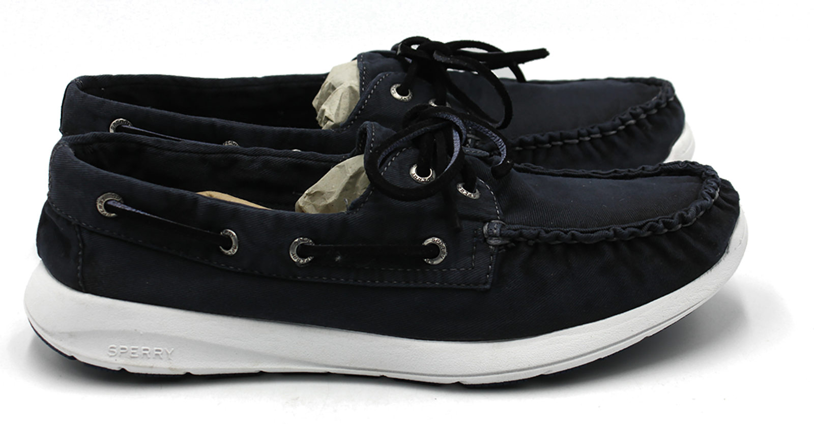 SPERRY Sojourn Canvas Men's Top-Sider Boat shoes Navy Size 8.5